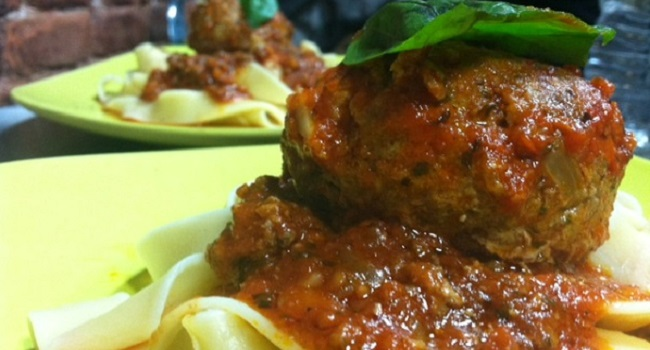 Melani- Pappardelle w Meatballs  - Featured