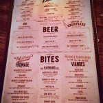 Baroness Bar Menu